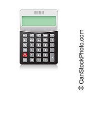 Calculator on white background, vector eps10 illustration