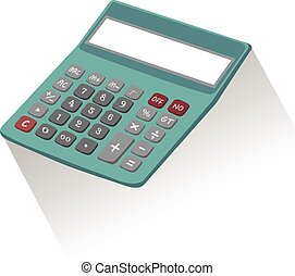 Calculator on white background, vector eps10 illustration