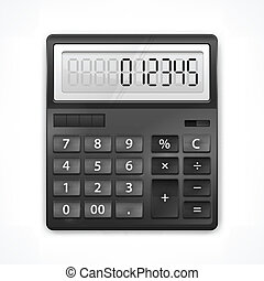 Calculator on white