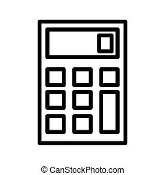 calculator outline Icon