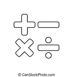 Calculator outline icon. Symbol, logo illustration for mobile concept and web design.