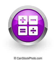 calculator pink glossy web icon