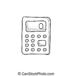 Calculator sketch icon.