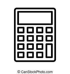 calculator thin line icon