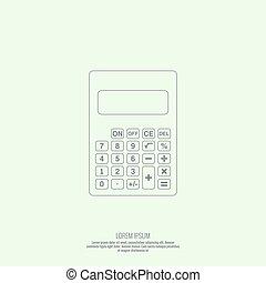 Calculator top view.