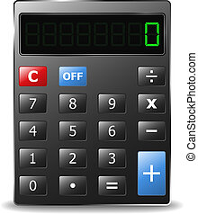 Calculator - Vector black calculator with green digits