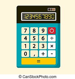 Calculator Vector Flat Design Icon