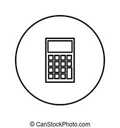 Calculator. Vector icon.