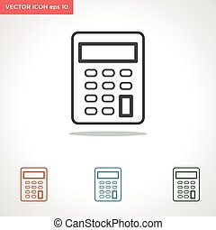 calculator vector icon isolated on white background