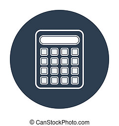 Calculator vector illustration.