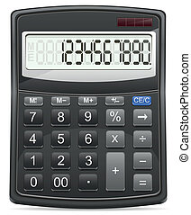 calculator vector illustration isol