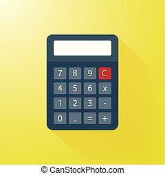 calculator vector with modern flat style
