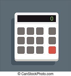 Calculator White Vector Icon