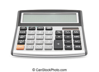 Calculator with clipping path
