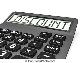 Calculator with DISCOUNT on display.