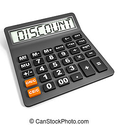 Calculator with DISCOUNT on display. - Calculator with...