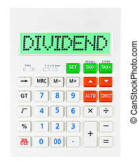 Calculator with DIVIDEND
