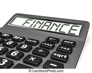 Calculator with FINANCE on display.