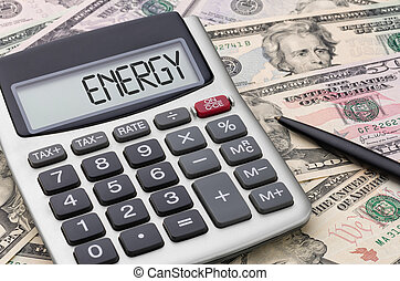 Calculator with money - Energy