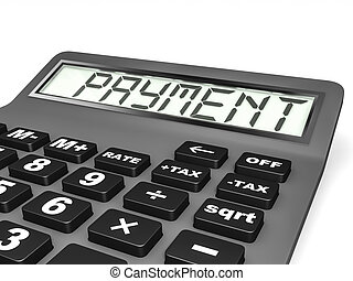 Calculator with PAYMENT on display.
