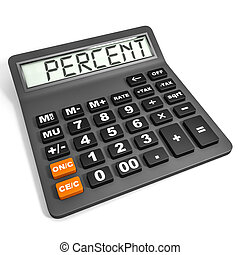 Calculator with PERCENT on display. - Calculator with...