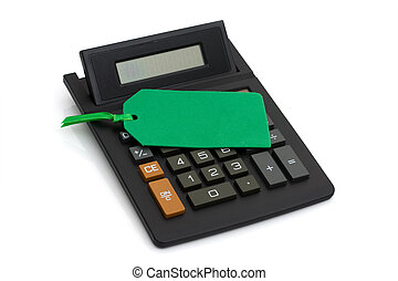 Calculator with price tag