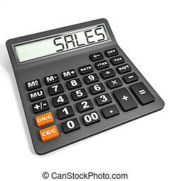 Calculator with SALES on display.