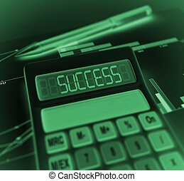 Calculator with success result