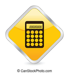 calculator yellow square icon