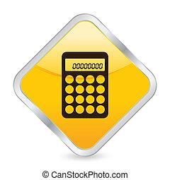 calculator yellow square icon