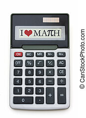 calculatrice, amour, math
