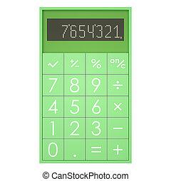 calculatrice, blanc, isolé