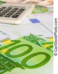 calculatrice, cent, euros
