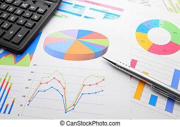 calculatrice, données, diagramme