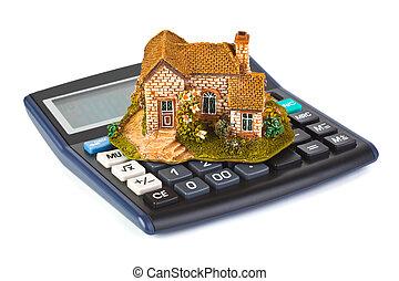 Famille bureau maison symbole dollar impôts relieur bureau