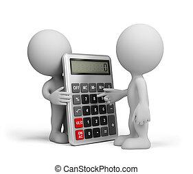 calculatrice, homme