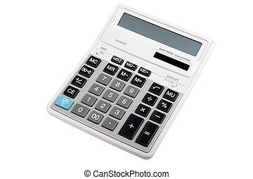 calculatrice, isolé, professionnel, comptabilité, blanc, ...