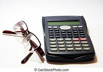 calculatrice, lunettes, scientifique