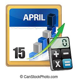 calculatrice, moderne, impôts