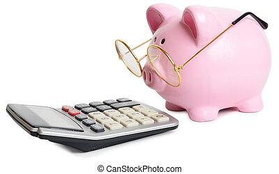calculatrice, piggybank