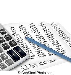 calculatrice, supplies., bureau