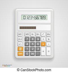 calculatrice, vecteur, illustration
