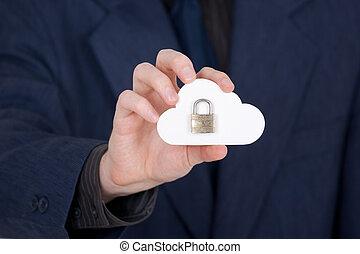 calculer, nuage, sécurité