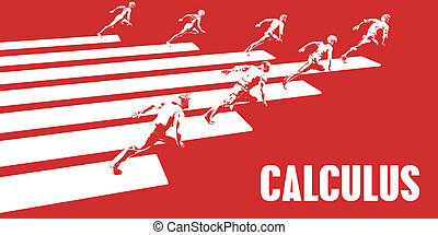 Calculus with Business People Running in a Path