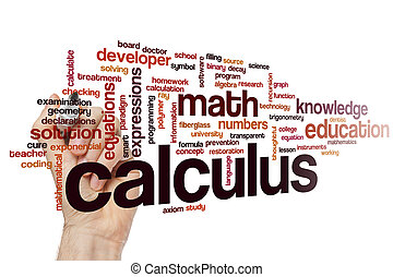 Calculus word cloud
