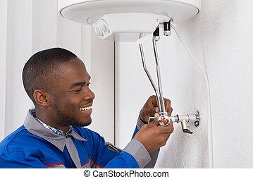 caldeira, encanador, elétrico, reparar