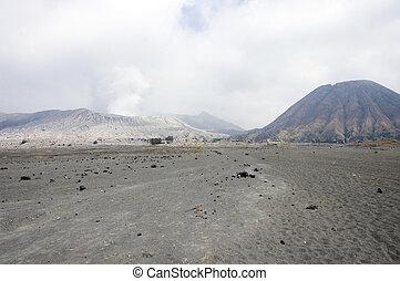 Caldeira of Bromo's volcano and Batok cone - Caldeira of ...