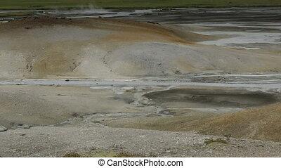 Caldera Uzon on territory of Kronotsky Nature Reserve stock...