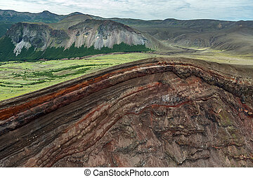 Caldera volcano Ksudach. South Kamchatka Nature Park.