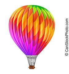 caldo, balloon, colorito, aria